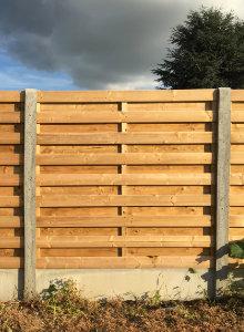 afsluiting beton hout